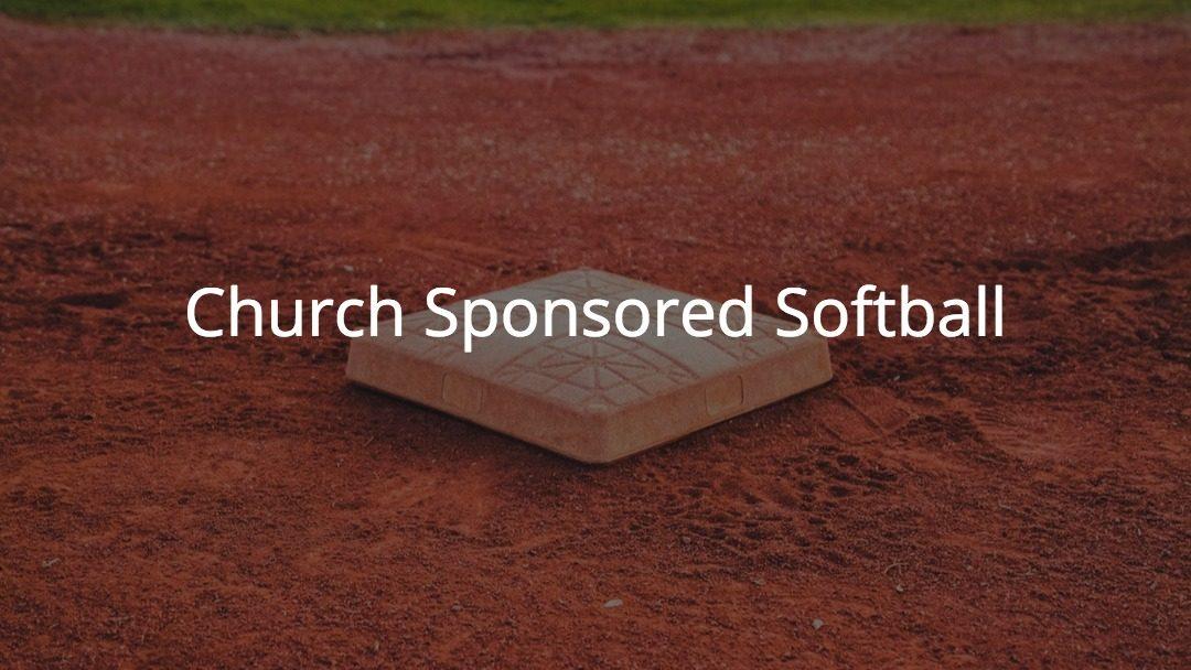 Church Softball Teams Forming
