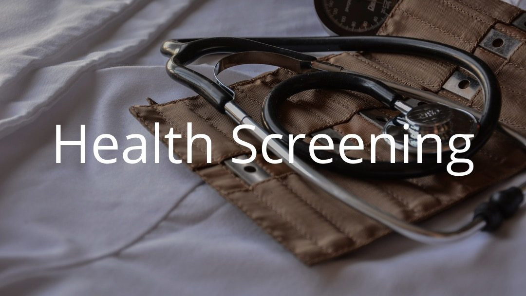 Health Screening at the church