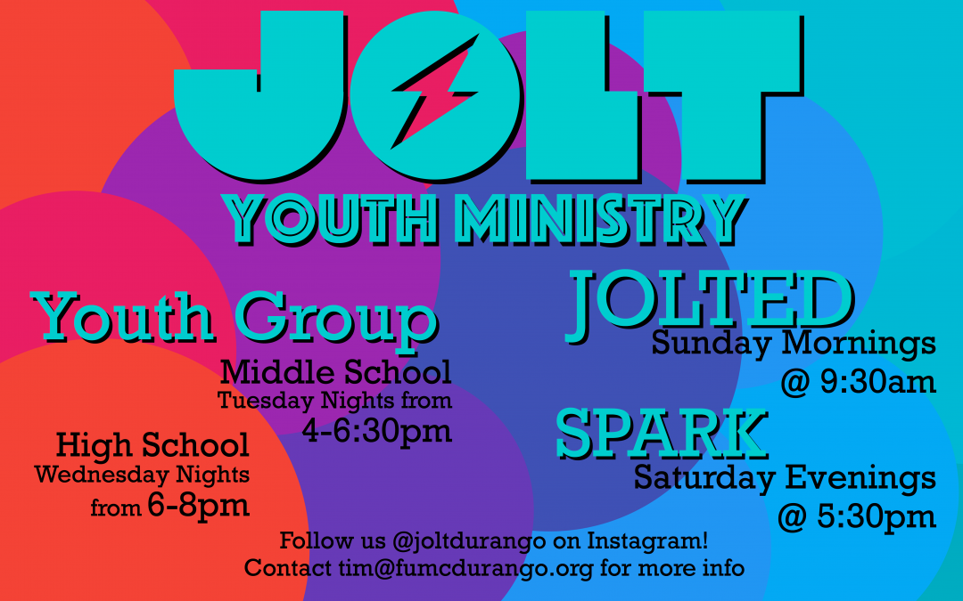 JOLT Youth Ministry Fall Schedule