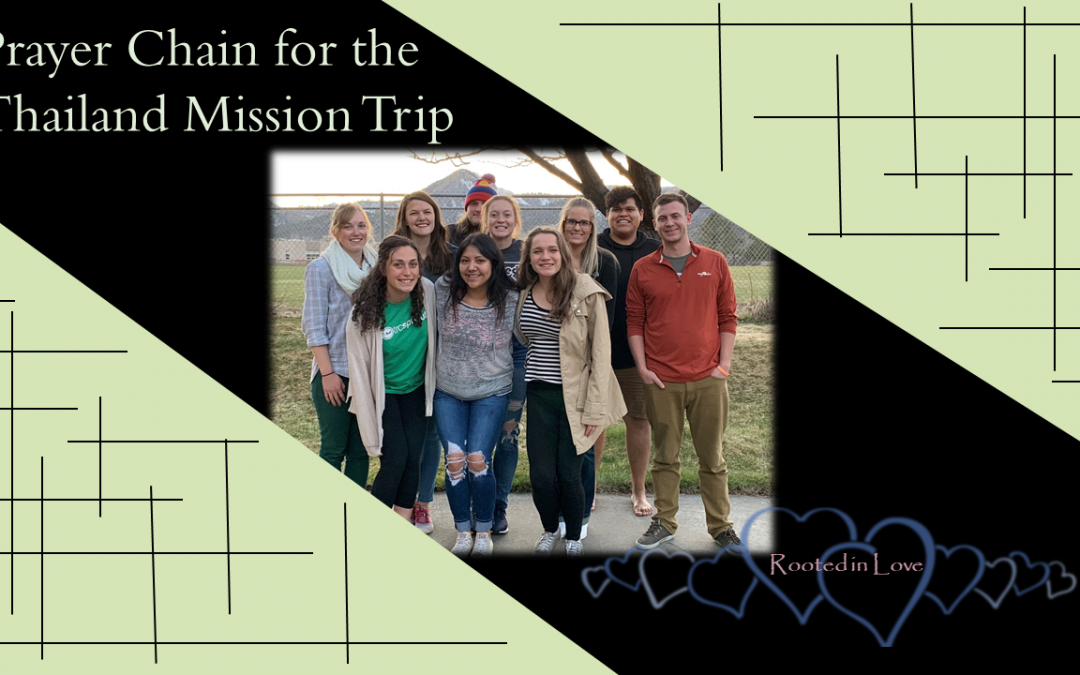 Prayer Chain for the FUMC Thailand Mission Trip